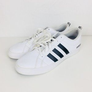 Adidas | Men's All Leather Classic White Sneakers